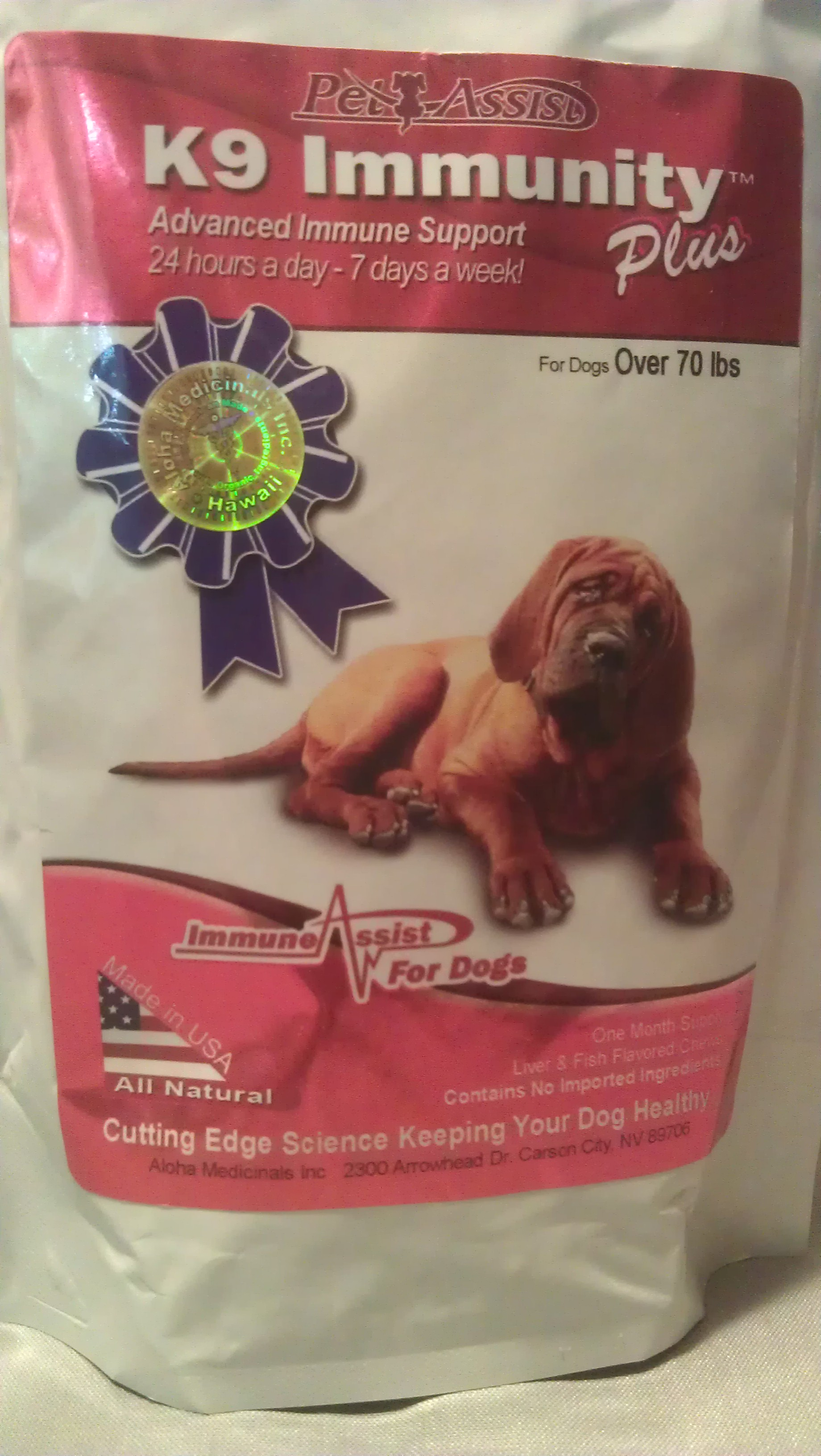 K9 Immunity Plus� to help your Dog fight Cancer